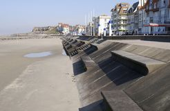Seafront at Wimmereux.  France Royalty Free Stock Images