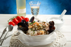 Seafruits risotto Stock Photo