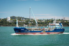 Seafuel tanker Awanuia sailing on the sea Royalty Free Stock Images