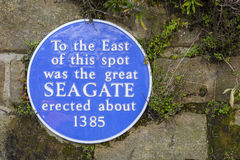 Seagate Plaque in Hastings Stock Image