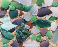 Seaglass Collection Stock Photo