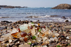 Free Seaglass Of Fort Bragg California CA On Shore Royalty Free Stock Images - 79563419