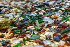 Seaglass strand - Bermuda Arkivfoton