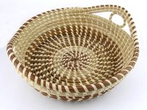 Seagrass basket Royalty Free Stock Image