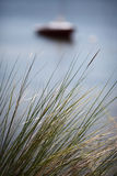 Seagrass Boat 3. Sailboat background behind Seagrass Florida Royalty Free Stock Photography