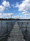 Seagull αποβάθρα Στοκ εικόνες με δικαίωμα ελεύθερης χρήσης