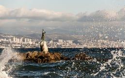 seagull κοριτσιών Στοκ εικόνα με δικαίωμα ελεύθερης χρήσης