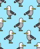 Seagull σχέδιο άνευ ραφής υπόβαθρο πουλιών γλάρων Διάνυσμα illustrat Στοκ φωτογραφία με δικαίωμα ελεύθερης χρήσης