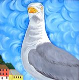 Seagull with Attitude vector illustration
