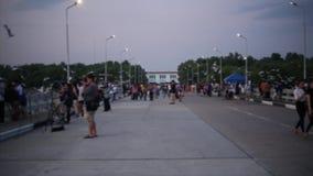 Dark cloud with blue light sky backgroundSeagull in Bangpu Samutprakan Thailand stock video