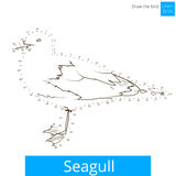 Seagull bird learn to draw vector Royalty Free Stock Images