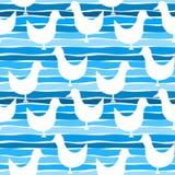 Seagull birds seamless pattern Stock Photography