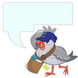Seagull message Royalty Free Stock Photo