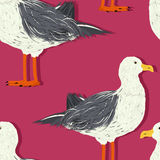 Seagull pattern Stock Images