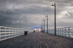 Seagull Pier Royalty Free Stock Photography
