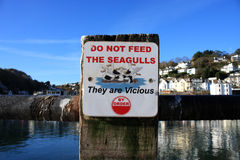 Seagull Sign Royalty Free Stock Photo