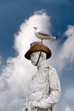 Seagull sitting on monument Royalty Free Stock Photography