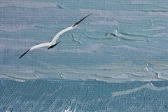 Seagull in texture paint Royalty Free Stock Photos