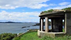 Seagulls i Wojenna fortyfikacja obrazy stock