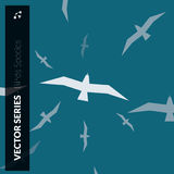 Seagulls logo Obraz Stock