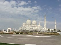 Seagulls V S zayed uroczysty meczetowy sheikh Zdjęcie Stock