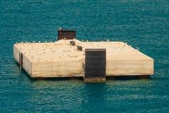 Seagullsstoppet på kajen Royaltyfria Bilder