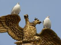 Seaguls sul monumento Fotografie Stock