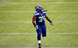 Seahawk Defensive Back Roy Lewis Royalty Free Stock Image