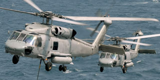 Seahawk Helicopters Stock Image