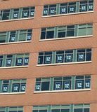 Seahawks 12 man windows. Which was taken on the date of victory parade Stock Image
