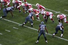Seahawks de Seattle contra cardeais do Arizona Fotos de Stock Royalty Free