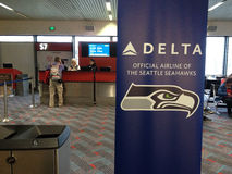 SEAHAWKS-DELTA AIRLINE Stock Photos
