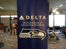 SEAHAWKS-DELTA AIRLINE Royalty Free Stock Image