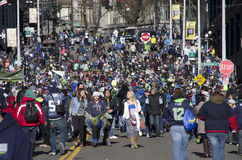 Seahawks win championship celebration parade Stock Photo