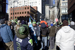 Seahawks win championship celebration parade Royalty Free Stock Photos
