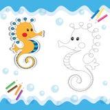Κινούμενα σχέδια seahorse Στοκ φωτογραφίες με δικαίωμα ελεύθερης χρήσης