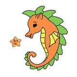 Seahorse cartoon  illustration Stock Photo