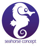 Seahorse circle concept Stock Images