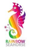 Seahorse del arco iris. Fotografía de archivo