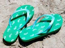 Seahorse-Flipflops Lizenzfreies Stockbild
