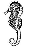 Seahorse in het doodling van stijl Royalty-vrije Stock Foto