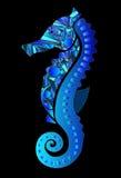 Seahorse im Blau Lizenzfreies Stockfoto