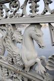 Seahorse na ogrodzeniu most zdjęcie stock