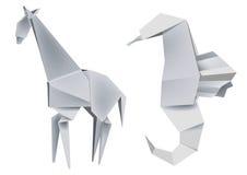 seahorse origami giraffe Стоковые Фотографии RF