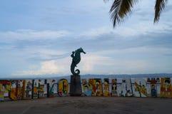 Seahorse from Puerto Vallarta. Seahorse icon from Puerto Vallarta Jalisco México bay view from malecon Royalty Free Stock Photos