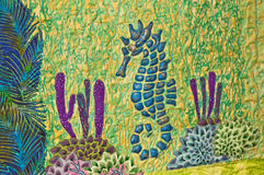 Seahorse Quilt Stock Image