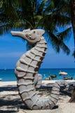 Seahorse sculpture stock image