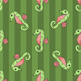 Seahorse seamless vector illustration Stock Photography