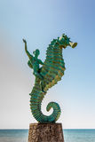 """Seahorse Statue. Puerto Vallarta, Mexico - December 8, 2013: The seahorse statue, otherwise known as """"Caballeo del Mar"""", is one of Puerto Vallarta's most famous Stock Images"""