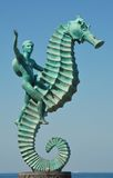 Seahorse statute on Malecón in Puerto Vallarta II Royalty Free Stock Photo